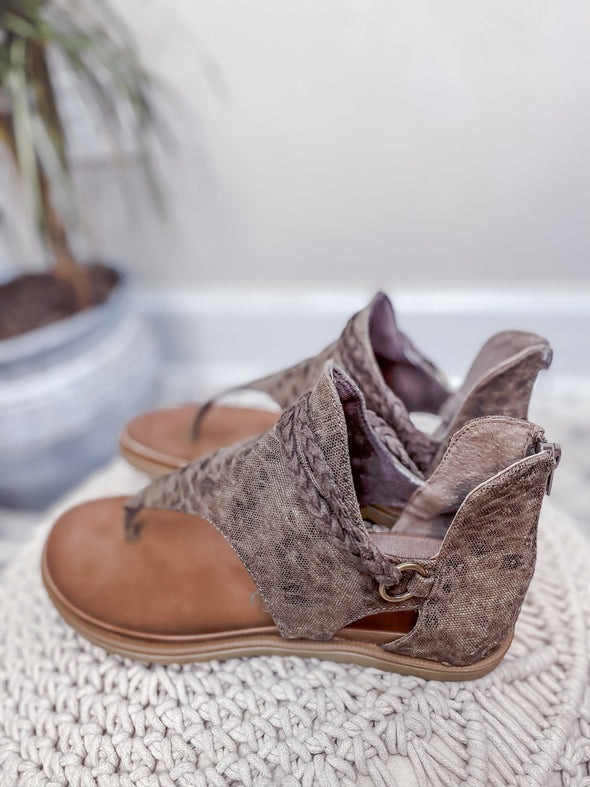 Very G Taupe Leopard Sariah Sandal