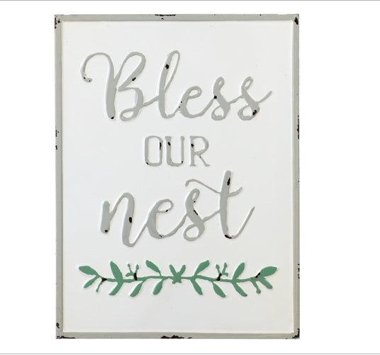 Bless Our Nest Enamel Wall Decor