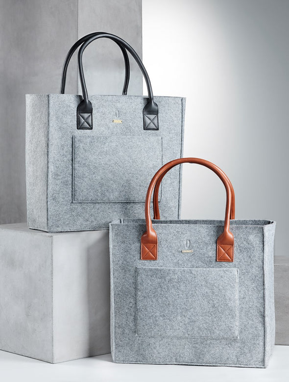 Sarai Felt Tote in Two Colors