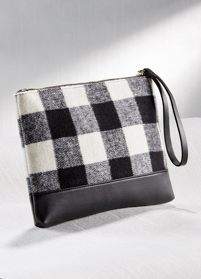 Nora Plaid Wristlet in Two Colors