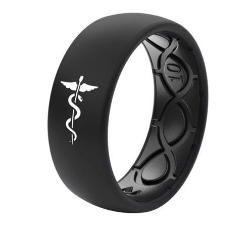 Groove Life Midnight Black Healthcare Silicone Ring