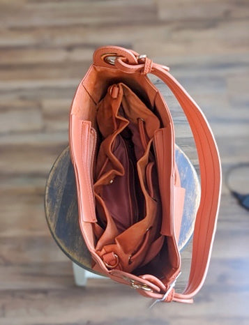 Woven Bucket Shoulder Hobo Bag