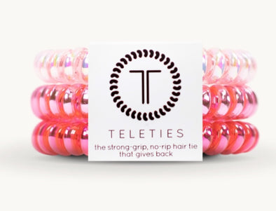 Teleties Think Pink, Small, 3pk
