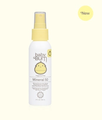 Baby Bum Fragrance Free Mineral SPF 50 Sunscreen Spray