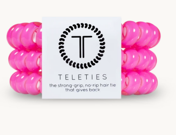 Hot Pink Teleties, Large 3pk