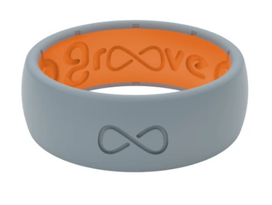 Groove Life Original Storm Grey/Orange Silicone Ring