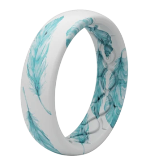 Groove Life Thin Aspire Soar Teal Women's Silicone Ring