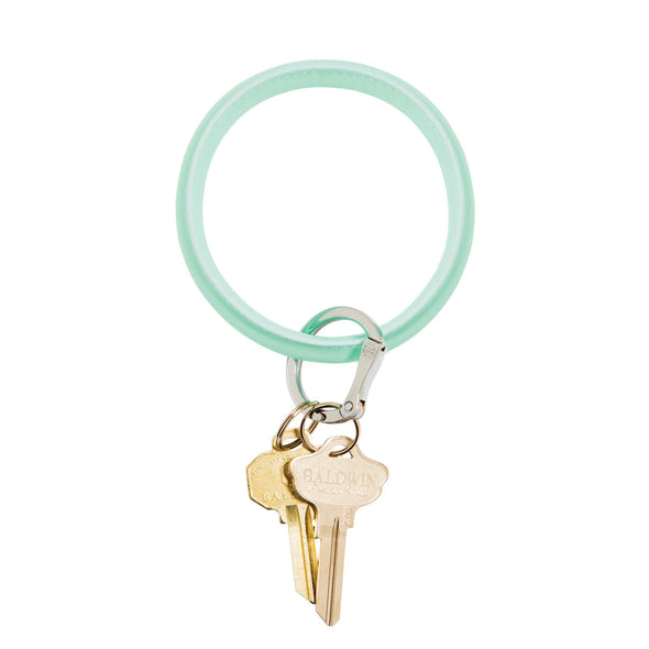 Pistachio Oventure Leather Big O Keyring