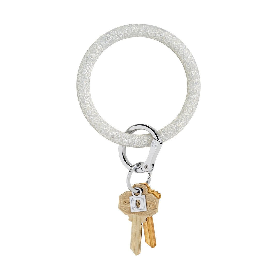 Silver Confetti Oventure Big O Key Ring