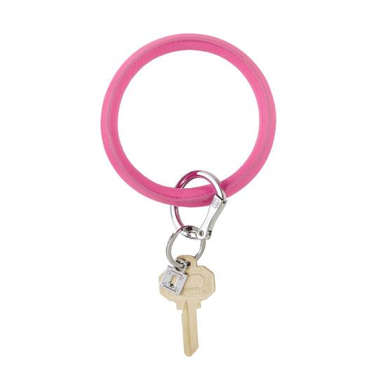 Oventure Tickled Pink Vegan Leather Big O Key Ring