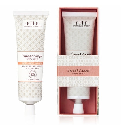 Farmhouse Fresh Sweet Cream Body Milk Travel Lotion 2oz