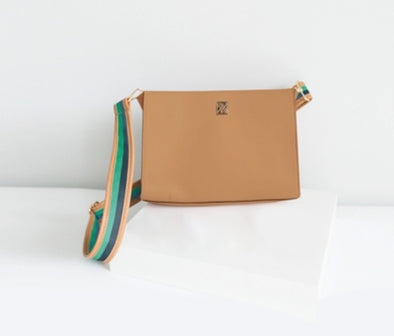 MD Dell Camel Crossbody With Interchangeable Strap