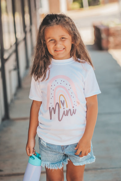 Girls Rainbow Mini Graphic Tee
