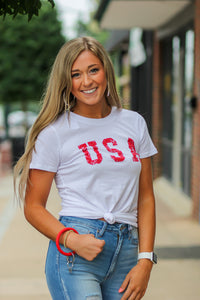 Z Supply USA Crew Neck Tee