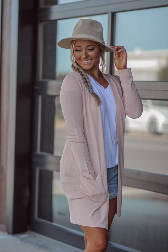 Soft Knit Long Sleeve Cardigan in Two Colors