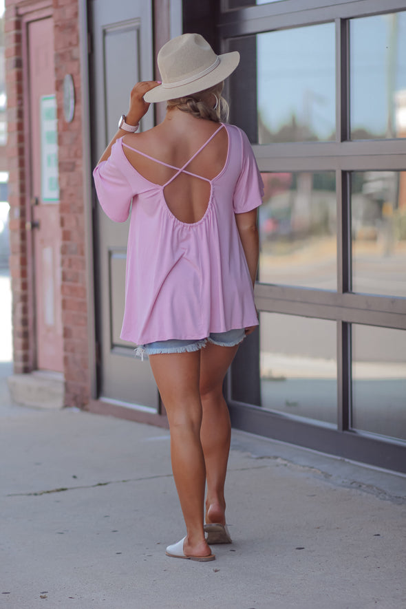 Dusty Pink Strappy Back Top