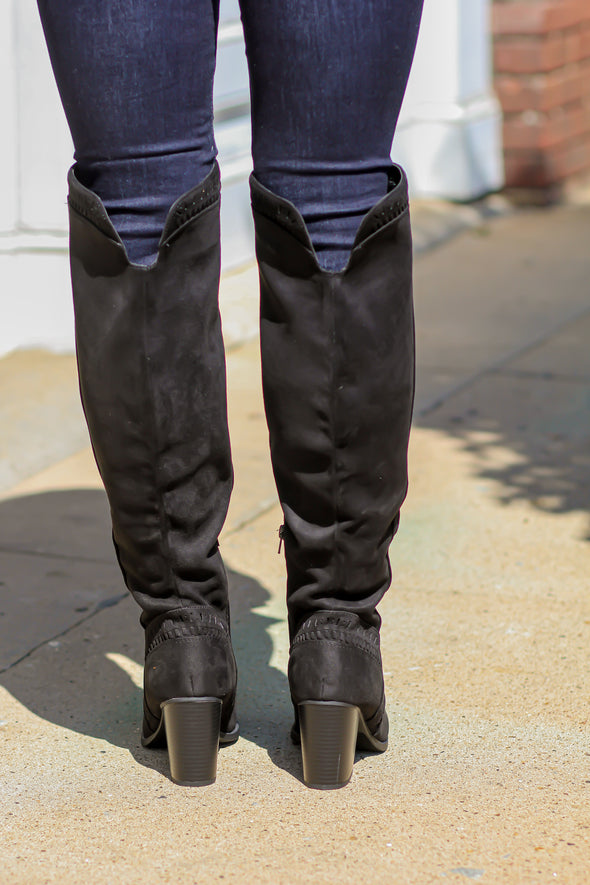 The Whitney Over the Knee Detailed Boots in three colors