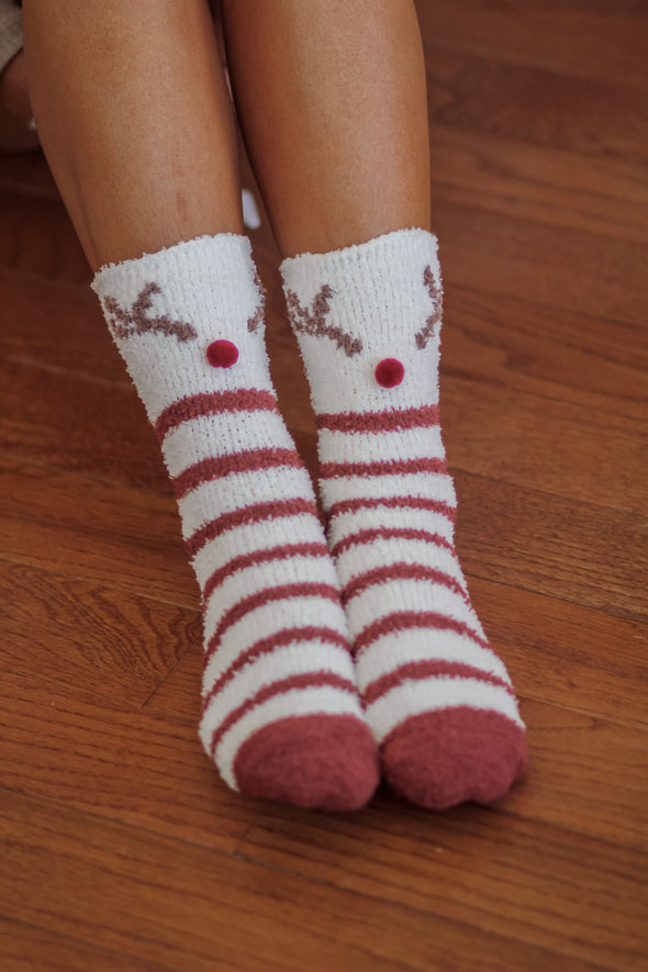 Z Supply Vanilla Ice Deer Plush Socks