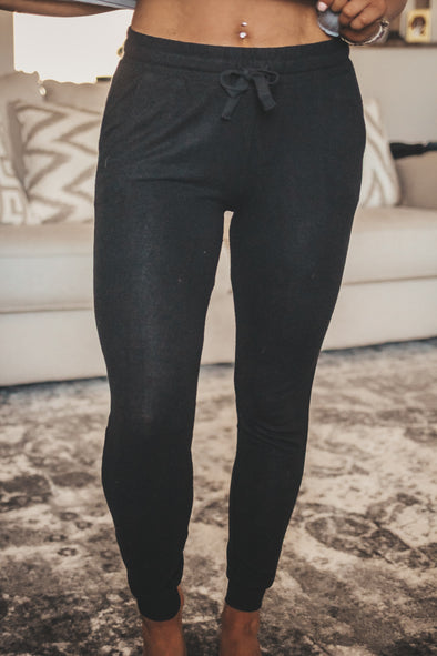 Z Supply Black Marled Joggers