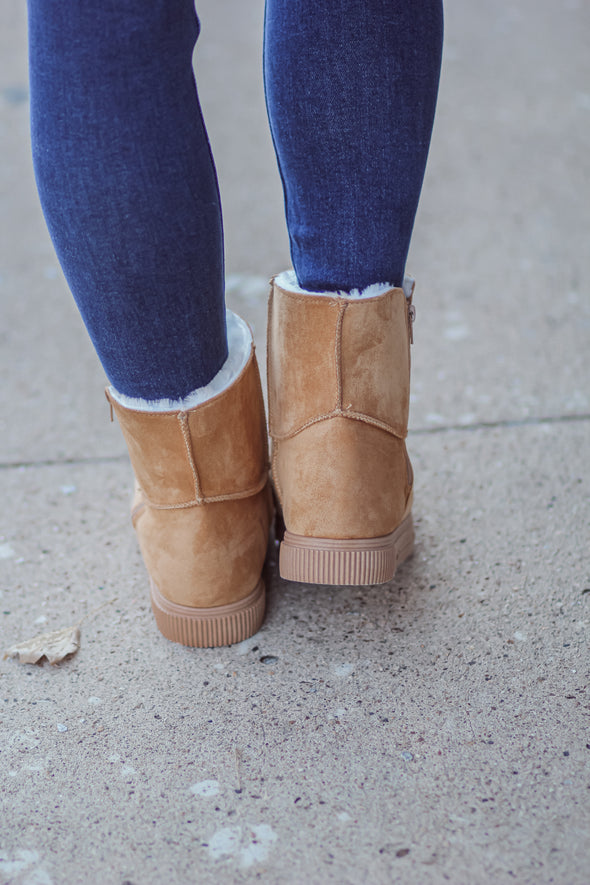 The Remi Bootie in Tan