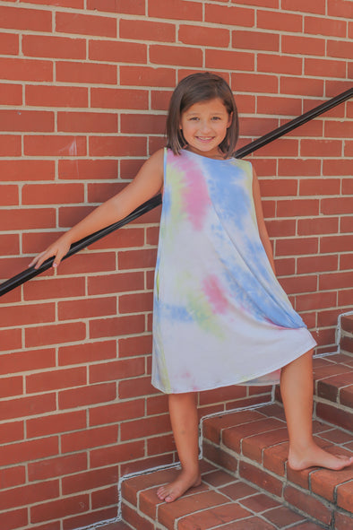 Girls Tie Dye Tunic Dress
