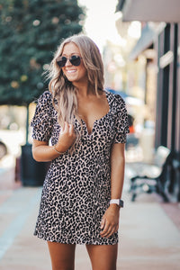 The Dakota Tan Leopard Dress by Buddy Love