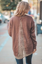 Brown Button Down Leopard Print Contrast Cardigan