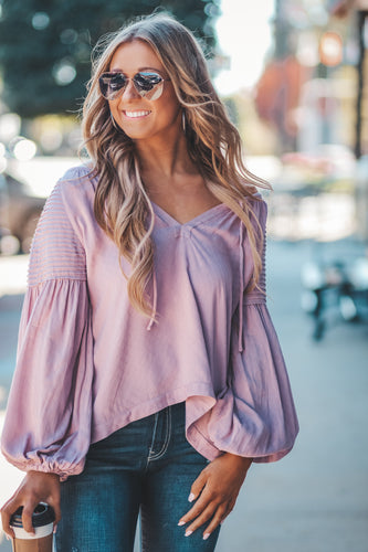 Lilac Woven Top