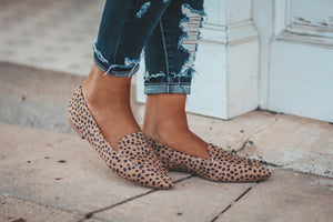 Cheetah Spot Flat Shoe