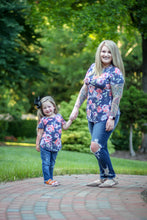 Navy Floral Top Mommy and Me