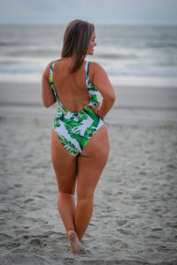 Green Tropical Swimsuit