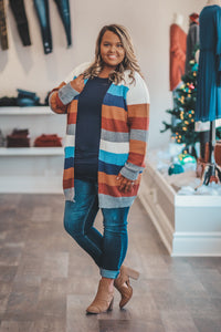 Capuccino Colorblock Sweater in Regular and Curvy