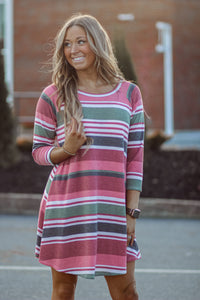 Striped Winter Dress in Two colors