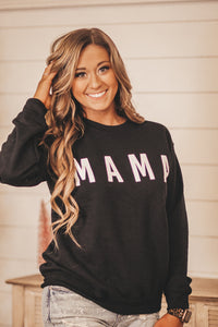 Mama Black Crewneck Sweatshirt