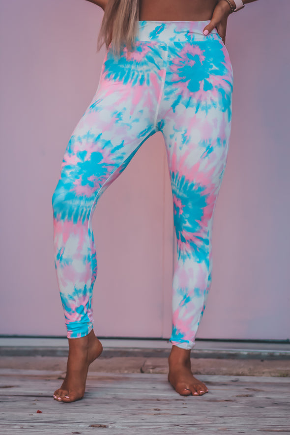 Bubble Gum Tie Dye Leggings