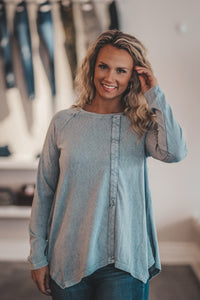 Slate Mineral Washed Tunic
