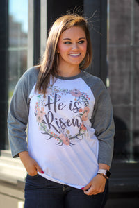 He is Risen Raglan Top