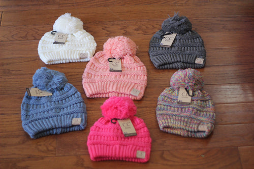 CC Beanie for Kids Single Pom