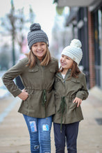 Girls Olive Cargo Jacket
