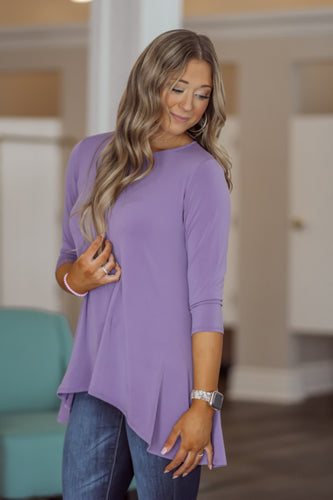 Spring High-Low 3/4 Sleeve Top in Several Colors