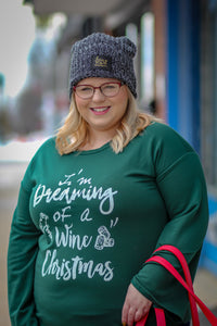 Wine Christmas Fleece Top