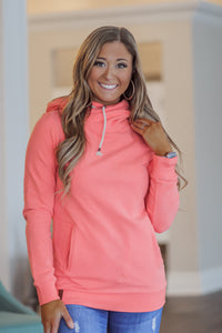 Ampersand Avenue Double hood Coral Sweatshirt At First Sight