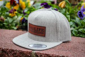 Heather Gray Snapback Dad Life Hat