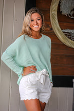 White Scalloped Tie Shorts