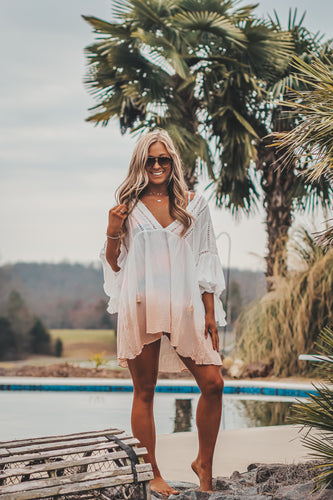 Cream Ombre Swimsuit Cover Up