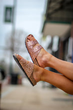 Rose Gold Women's Glitter Sandals
