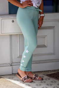 Z Supply Linear Star Premium Fleece Jogger's Fair Aqua