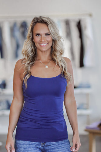 Navy Long Cami