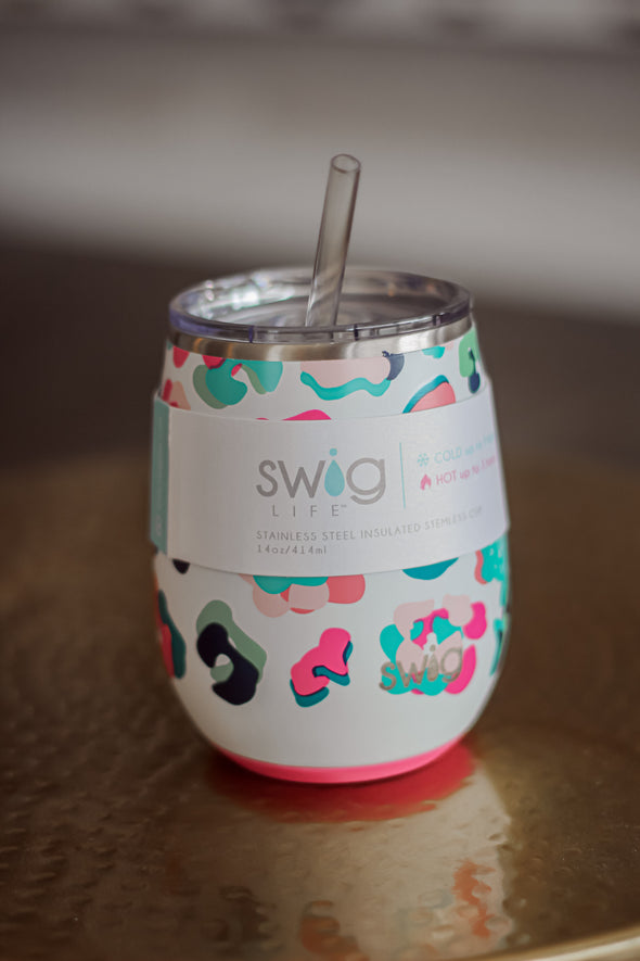 Swig Life Party Animal 14oz Stemless Cup