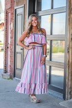 Pink Striped Two Piece Outfit